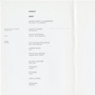 menu: Air France
