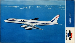 route map: United Air Lines, domestic routes