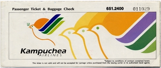 ticket: Kampuchea Airlines