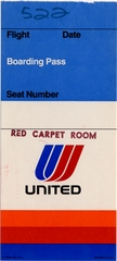 boarding pass: United Air Lines