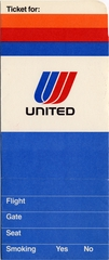 ticket jacket: United Airlines