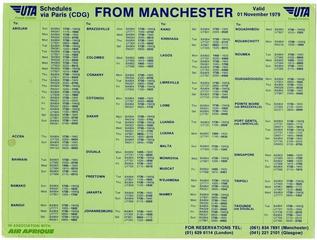 timetable: UTA (Union de Transports Aériens)
