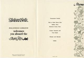 menu: Malaysian Airways