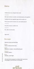 menu: Etihad Airways