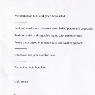 menu: Etihad Airways