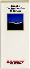 brochure: Braniff Inc., Boeing 727