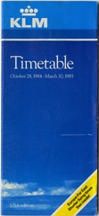 timetable: KLM (Royal Dutch Airlines)