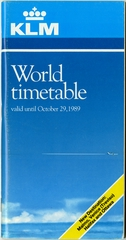 timetable: KLM (Royal Dutch Airlines), World edition