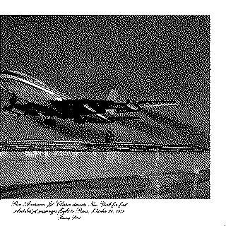 menu: Pan American World Airways, Historic First Flights series, Boeing 707