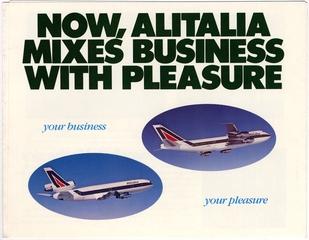 brochure: Alitalia, Top and Business Class service