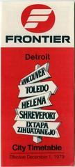 timetable: Frontier Airlines, Detroit