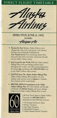 timetable: Alaska Airlines, includes Horizon Air