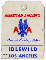 baggage destination tag: American Airlines