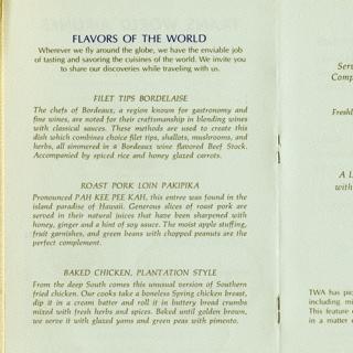 menu: TWA (Trans World Airlines)