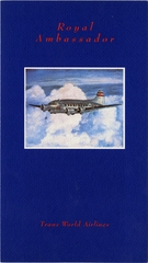 menu: TWA (Trans World Airlines), Royal Ambassador (First) Class