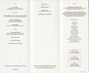 menu: Virgin Atlantic