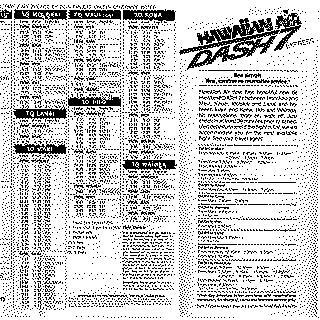 timetable: Hawaiian Air