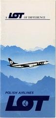 brochure: LOT (Polish Airlines), general service
