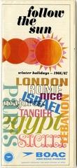 brochure: BOAC (British Overseas Airways Corporation) and BOAC Cunard, Europe