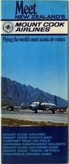 brochure: Mount Cook Airlines, general service