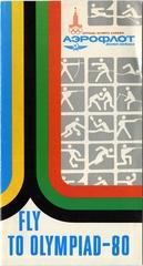 brochure: Aeroflot Soviet Airlines, Olympics Moscow