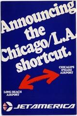 brochure: Jet America, Chicago - Los Angeles
