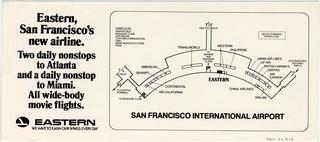 brochure: Eastern Air Lines, San Francisco International Airport (SFO)
