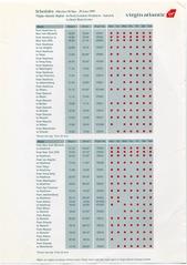 timetable: Virgin Atlantic, British Commonwealth Pacific Airlines (BCPA)