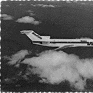 postcard: Western Airlines, Boeing 727