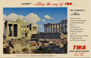 postcard: TWA (Trans World Airlines)