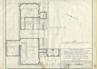 architectural drawing: San Francisco Airport, Administration Building