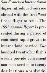 annual report: San Francisco International Airport (SFO), 1992 [1 issue: 1992]
