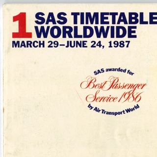 timetable: Scandinavian Airlines System (SAS)