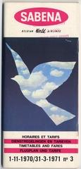 timetable: Sabena Belgian World Airlines