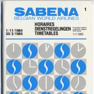 timetable: Sabena Belgian World Airlines