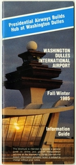 timetable: Washington Dulles International Airport, fall and winter schedule
