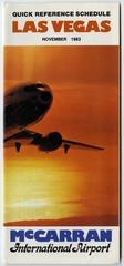timetable: Las Vegas McCarran International Airport, quick reference