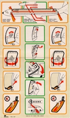 safety information card: TAP Air Portugal, Boeing 707