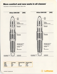 seating chart: Lufthansa German Airlines, Boeing 747-200