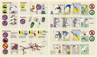 safety information card: Sun Country Airlines, Boeing 727-200