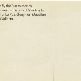 postcard: Hughes Airwest, McDonnell Douglas MD-80