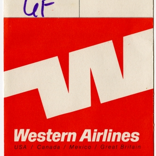 ticket jacket: Western Airlines