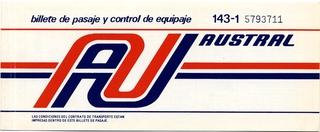 ticket: Air Austral