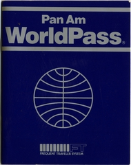 mileage program: Pan American Worldpass Frequent Flyer Membership Booklet