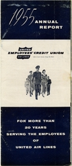 annual report: United Air Lines, employee credit union 1955