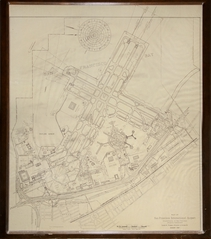 architectural drawing: San Francisco International Airport (SFO), contour line map