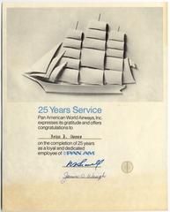 service awards: Pan American World Airways, John J. Dunne
