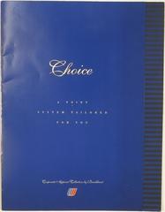 brochure: United Airlines, flight attendant uniforms