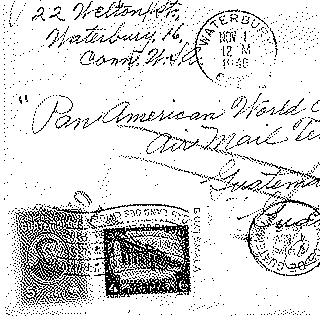 airmail flight cover: Pan American Airways, 1946 airmail test