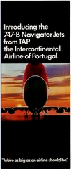 brochure: TAP (Transportes Aereos Portugueses), Boeing 747B